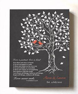 MuralMax Custom Family Tree & Lovebirds, Stretched Canvas Wall Art, Make Your Wedding &  ...