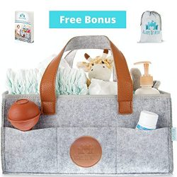 Baby Diaper Caddy Organizer – Large Waterproof Great for Changing Tables, Nursery Storage  ...