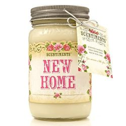 Scentiments NEW HOME Gift Candle Linen Scented Fragrance 16oz