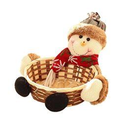 Sinwo Cute Christmas Candy Storage Basket Decoration Santa Claus Storage Basket Gift,Home,Desk D ...