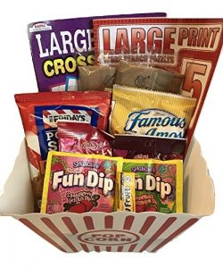 The Classic Popcorn, Snacks and Large Print Crossword Puzzle Package – Variety Assortment  ...
