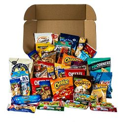 Snack Box Care Package Variety Pack – Cookies Chips & Candies Bulk Sampler Assortment  ...