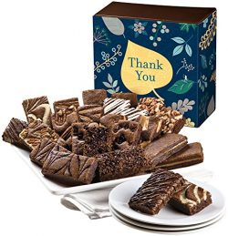 Fairytale Brownies Thank You Sprite 24 Gourmet Food Gift Basket Chocolate Box – 3 Inch x 1 ...
