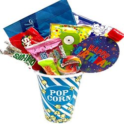 Movie Night Popcorn and Candy Gift Basket Plus Free Redbox Movie Rental Code Gift Card – I ...