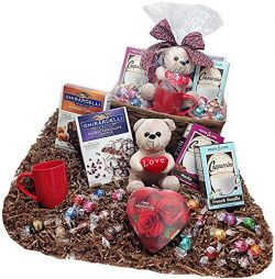 Baking & Cappuccino Lovers Deluxe Valentines Day Candy & Chocolate Gifts Basket –  ...