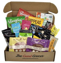 PROTEIN RICH VEGAN Snacks Care Package (20ct): Plant Based Protein, Non-GMO, High Protein, Prote ...
