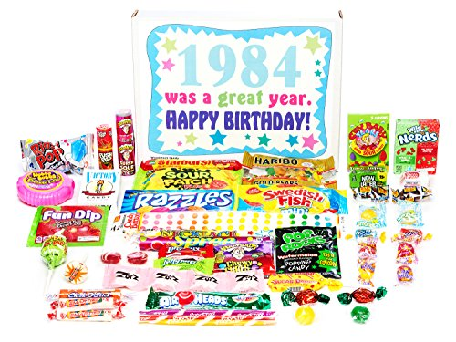 Woodstock Candy 1984 34th Birthday Gift Box Of Nostalgic Retro From Childhood For 34 Year
