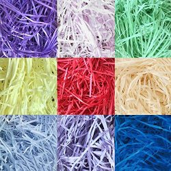 9 Pack Raffia Shredded Paper for Gift Wrapping Basket Gift Box Filling