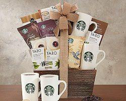 Coffee Lovers Starbucks and Tazo Tea Snacks Gift Basket