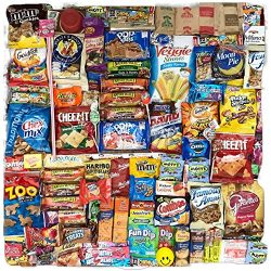 Sweet & Salty Ultimate 100 Count Care Package Snack Pack Boxed Variety Assortment Selection  ...