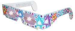 Pack of 5 – Holographic Glasses: See a STAR of DAVID at Every Bright Point of Light