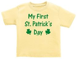 New Baby Boy Gifts New Baby Girl Gifts My First St Patricks Day Shamrock Cute Infant T-Shirt 6 M ...