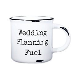 Wedding Planning Mug – 15 oz Campfire Mug with the saying,Wedding Planning Fuel (White, Di ...
