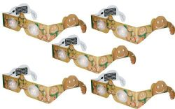 Holographic Glasses: 3D Gingerbread Man at Every Point of Light – 5 Pack