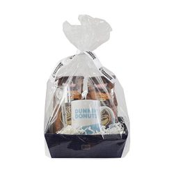 dunkin donuts gourmet coffee and accessories prewrapped gift basket includes collectable
