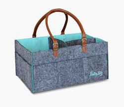 Premium Baby Diaper Caddy Organizer- Baby Shower Gift Basket for Boy and Girl- Newborn Registry  ...