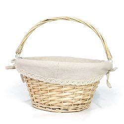OYPEIP(TM)Father's Day Gift Basket Traditional Fashion Basket Kids Gift Basket Woven Willo ...