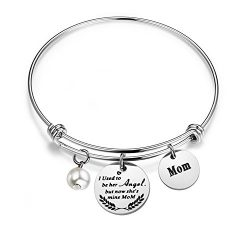 WUSUANED Memorial Bracelet I Used To Be Her Angel But Now She's Mine In Memory Of Loved On ...