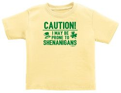 New Baby Boy Gifts New Baby Girl Gifts Prone to Shenanigans St Patricks Day Infant T-Shirt 6 Mon ...