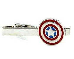 DC Comics Captain America and Silver Tone Tie Clip / Tie Bar