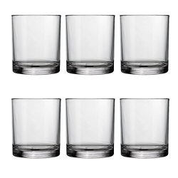 Classic 14-ounce Premium Quality Plastic Tumblers | set of 6 Clear