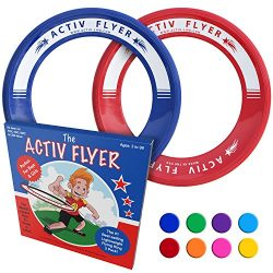 Activ Life Best Kids Frisbee Rings [Red/Blue] Top Birthday Gifts Xmas Stocking Stuffers –  ...
