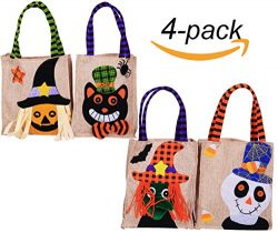 NinkyNonk Trick or Treat Halloween Tote Bag Halloween baskets Linen Party Gift Candy Bag Trick o ...