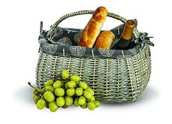 Picnic Plus Napa Basket For Wine Cheese And Picnics By, 14″ l x 8 1/2″ d x 10 1/2 ...