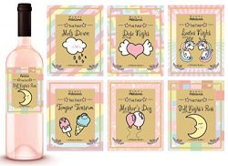 6 Unicorn Mommy Milestone Wine Labels or sticker Gifts, New Mom Gifts Ideas, Baby Shower Gift Id ...