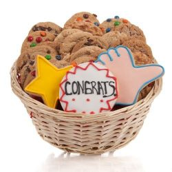 Congratulations Cookie Gift Basket- 24 Pc. by Lady Fortunes