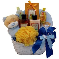 Art of Appreciation Gift Baskets Mommy and Baby Boy Bath Time Gift Basket