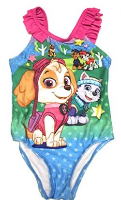 Nickelodeon Paw Patrol Girls Toddler Swimsuit Size 3T One Piece Swimwear UV Protection by, Pink  ...