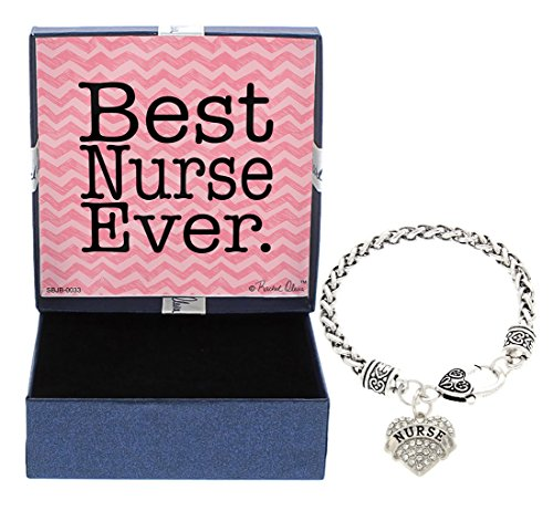 Idea Nurse Gifts Best Nurse Ever Jewelry Bracelet Silver-Tone Charm Bracelet Gift Nurse Nurse Gi ...