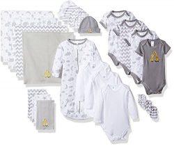 Spasilk Baby Essential Newborn Layette Set, Grey Celestial, 0-6 Months