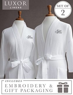 Luxor Linens Egyptian Cotton His/Hers Waffle Weave Robe – Perfect Wedding Gift! – Hi ...