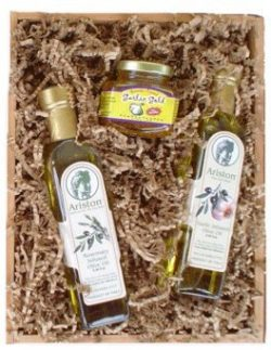Happy Hanukkah Gourmet Olive Oil Gift by Well Baskets
