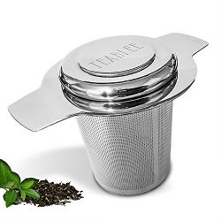 Teablee Tea Infuser Strainer Steeper | 304 Stainless Steel Extra-Fine Mesh | Best for Brewing Lo ...