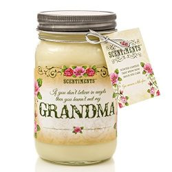 Scentiments GRANDMA Gift Candle Lavender Scented Fragrance 16oz