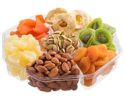 Nut Cravings Extra-Large Dried Fruit Prime Gift Basket | Variety Of 7-Section Gourmet Assorted D ...