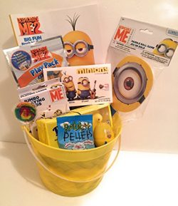 Despicable Me Easter Holiday Gift Basket or Birthday Basket 2 – Coloring Book, Paddle Ball ...