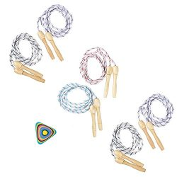 Wood Handle Jump Rope for Kids – Outdoor Activity, Fitness, Party Favor, Exercise Activity ...