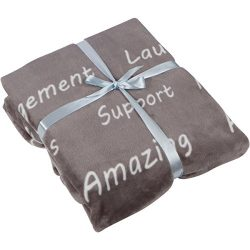 Healing Thoughts Throw Blanket – Inspiring and Comforting Positive Words Get Well Gifts &# ...
