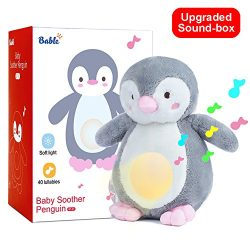 Baby Shower Gifts with Night Light Sleep Aid, Shusher White Noise Sound Machine with 40 Lullabie ...