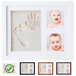 Baby Handprint Kit |NO MOLD| Baby Picture Frame, Baby Footprint kit, Perfect for Baby Boy gifts, ...