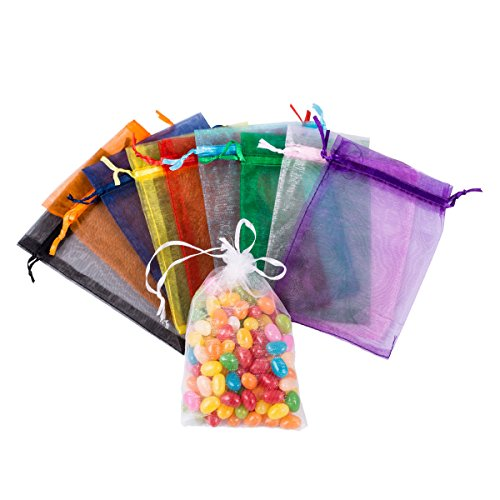 100 Pack Drawstring Organza Pouchesjewelry Candy Favor Present