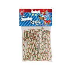 Dogit DO Holiday Beefhide Dog Snack Shaped as Candy Canes 7 inch – 20 Pack