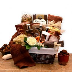 Gift for Her Spa Caramel Indulgence Bath & Body Spa Gift Basket