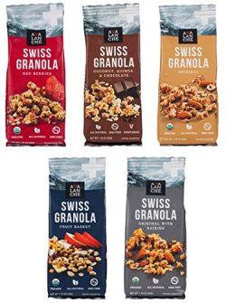 Avalanche Swiss Granola Assorted (Pack of 5), 1.76 Ounce Bag, All Natural, Kosher, Original Orga ...
