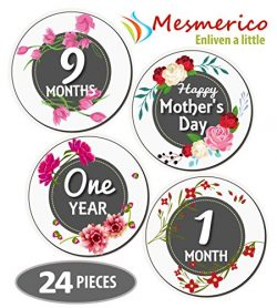 NEW! Mesmerico 24 Baby Monthly Holiday Stickers – Baby Girl First Year Month Age Growth Mi ...