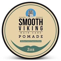 Pomade for Men – Medium Hold & High Shine – Hair Styling Formula for Straight, T ...